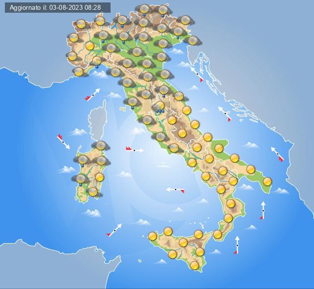Meteo Italia Cartina.Previsioni Meteo Italia Oggi E Settimana Centro Meteo Italiano