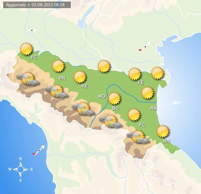 Previsioni meteo emilia romagna centro meteo italiano - Meteo bagno di romagna 15 giorni ...