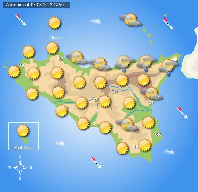 Previsioni Meteo Sicilia di oggi