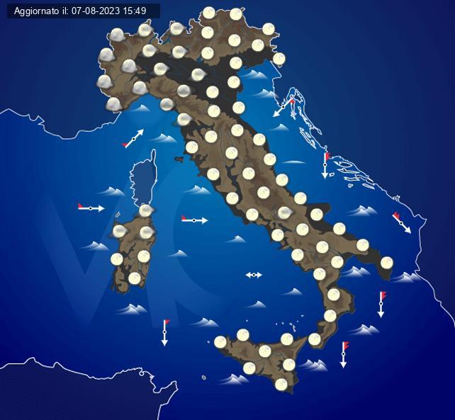 Previsioni meteo italia oggi e settimana centro meteo italiano - Meteo bagno di romagna 15 giorni ...