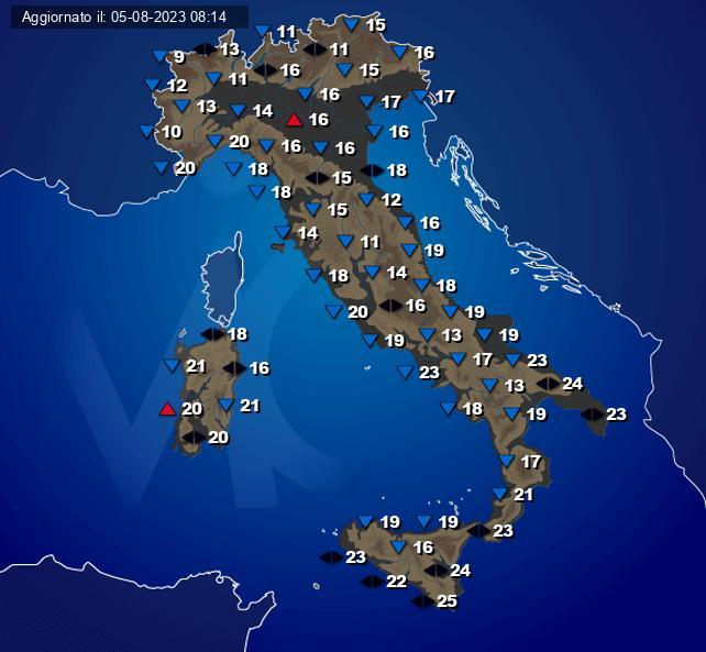 Temperature Italia Centro Meteo Italiano