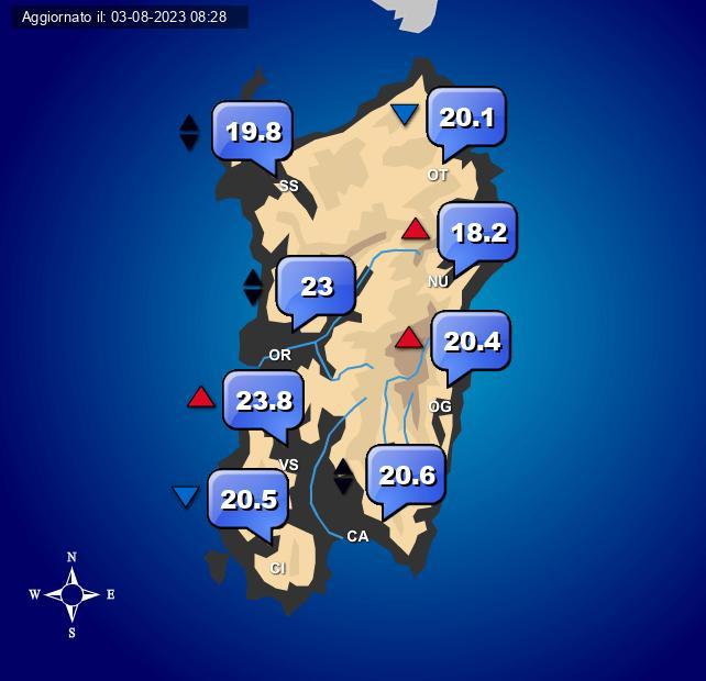 Temperature Sardegna Centro Meteo Italiano