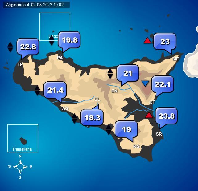 Temperature Sicilia Centro Meteo Italiano