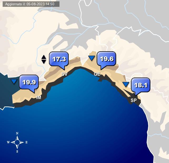 Temperature Liguria Centro Meteo Italiano