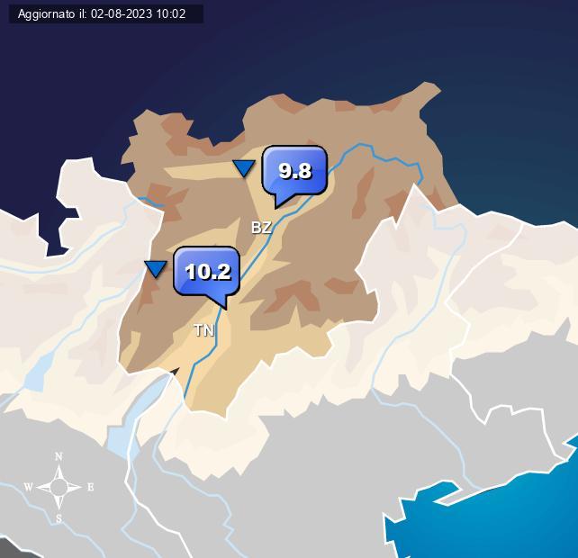 Temperature Trentino Alto Adige Centro Meteo Italiano