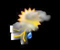 Pomeriggio: locali addensamenti con brevi fenomeni temporaleschi