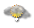 Mattina: irregolarmente nuvoloso con possibili nevicate