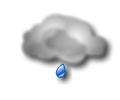 Mattina: molto nuvoloso o coperto con piogge diffuse