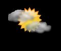 Mattina: cielo poco o parzialmente nuvoloso