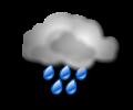 Pomeriggio: cieli grigi con piogge di forte intensita