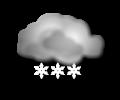 Pomeriggio: copertura nuvolosa diffusa con neve continua o di intensita moderata