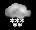 Mattina: cielo coperto con neve di forte intensita