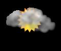 Mattina: cielo irregolarmente nuvoloso con nubi sparse alternate a schiarite
