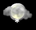 Notte: nuvolosita irregolare associata a rovesci di neve