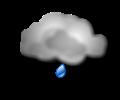 Notte: molto nuvoloso o coperto con piogge diffuse