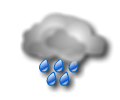 Notte: copertura nuvolosa diffusa con piogge in genere continue o di forte intensita