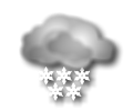 Notte: cielo coperto con neve di forte intensita