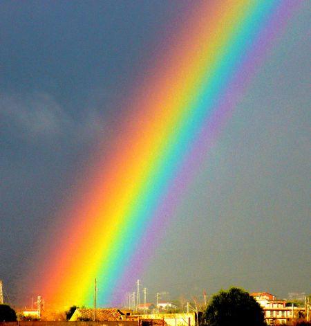 arcobaleno doppio a tutto tondo stupende foto realizzate