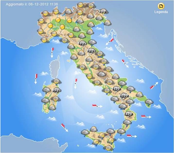 Meteo Cartina Italia.Maltempo Freddo E Neve In Italia Da Domani Le Mappe Previsionali Cmi
