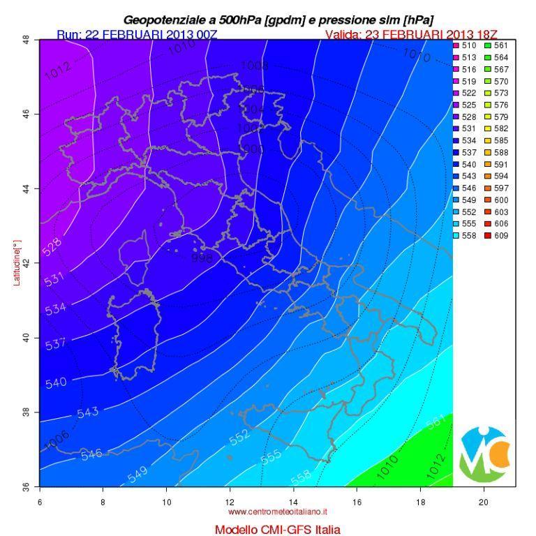 GEOPOTENZIALE (meteodidattica) Bpressione-al-suolo-e-geopotenziale-sabato-sera