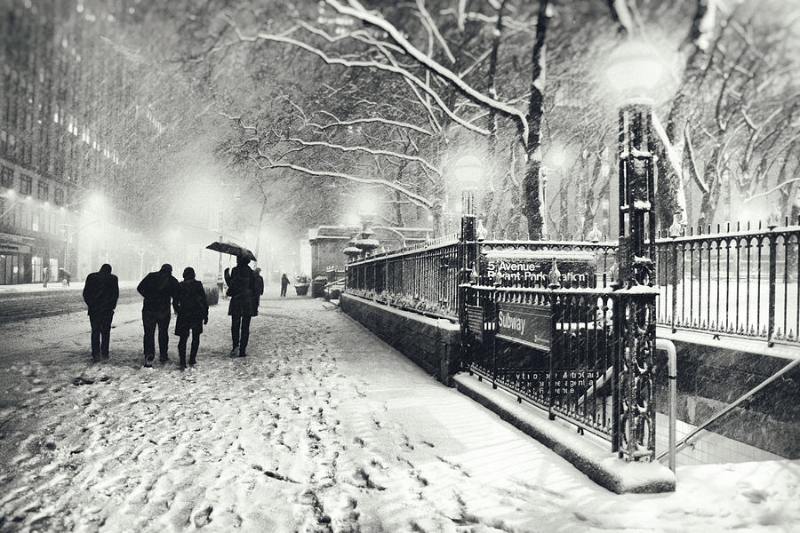 Neve dei giorni scorsi a new york cmi for Famous black and white christmas movies