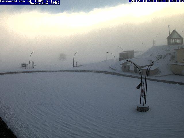 Neve in appennino 29 ottobre 2012 cmi for Camera in diretta