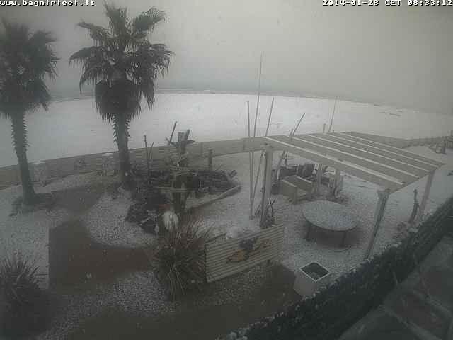 Neve sulle coste di Rimini e Ravenna - CMI