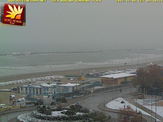 Nevicate in atto in romagna oggi sabato 8 dicembre 2012 cmi for Oggi in romagna