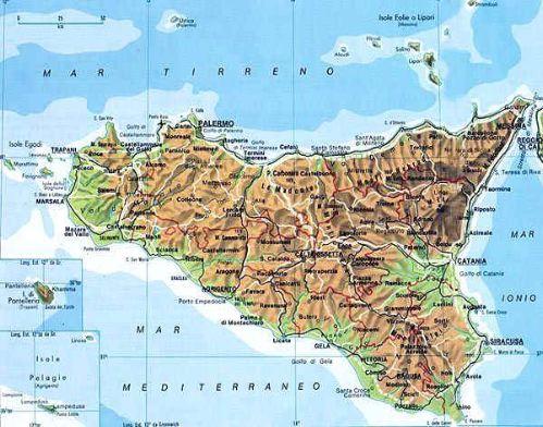 Sicilia Settentrionale Cartina.Il Clima Della Sicilia