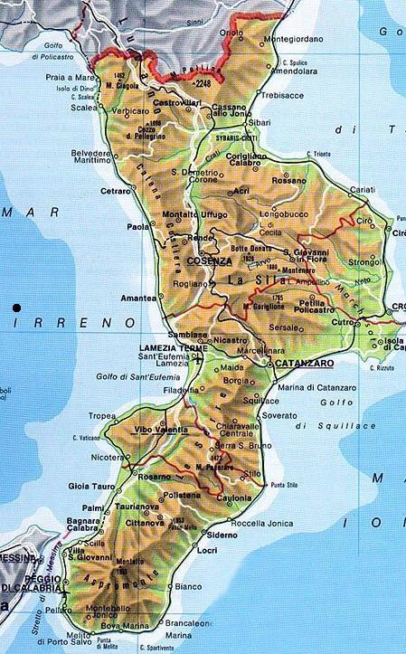 Calabria Costa Tirrenica Cartina.Il Clima Della Calabria