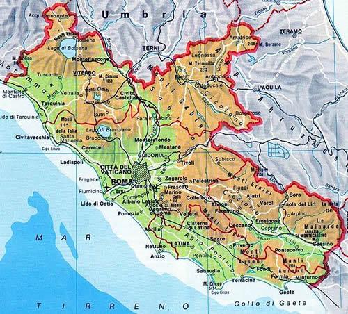 Cartina Del Lazio Con Comuni.Il Clima Del Lazio Centro Meteo Italiano