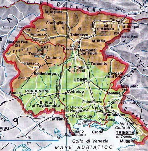 Cartina Fisica Nord Est Italia.Il Clima Del Friuli Venezia Giulia