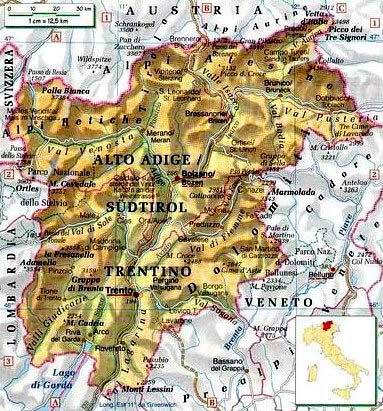 Cartina Del Trentino Alto Adige.Il Clima Del Trentino Alto Adige Centro Meteo Italiano