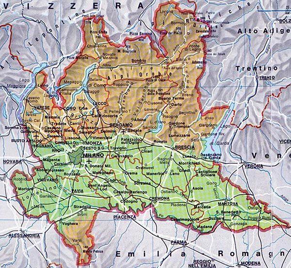 La Lombardia Cartina Fisica.Il Clima Della Lombardia