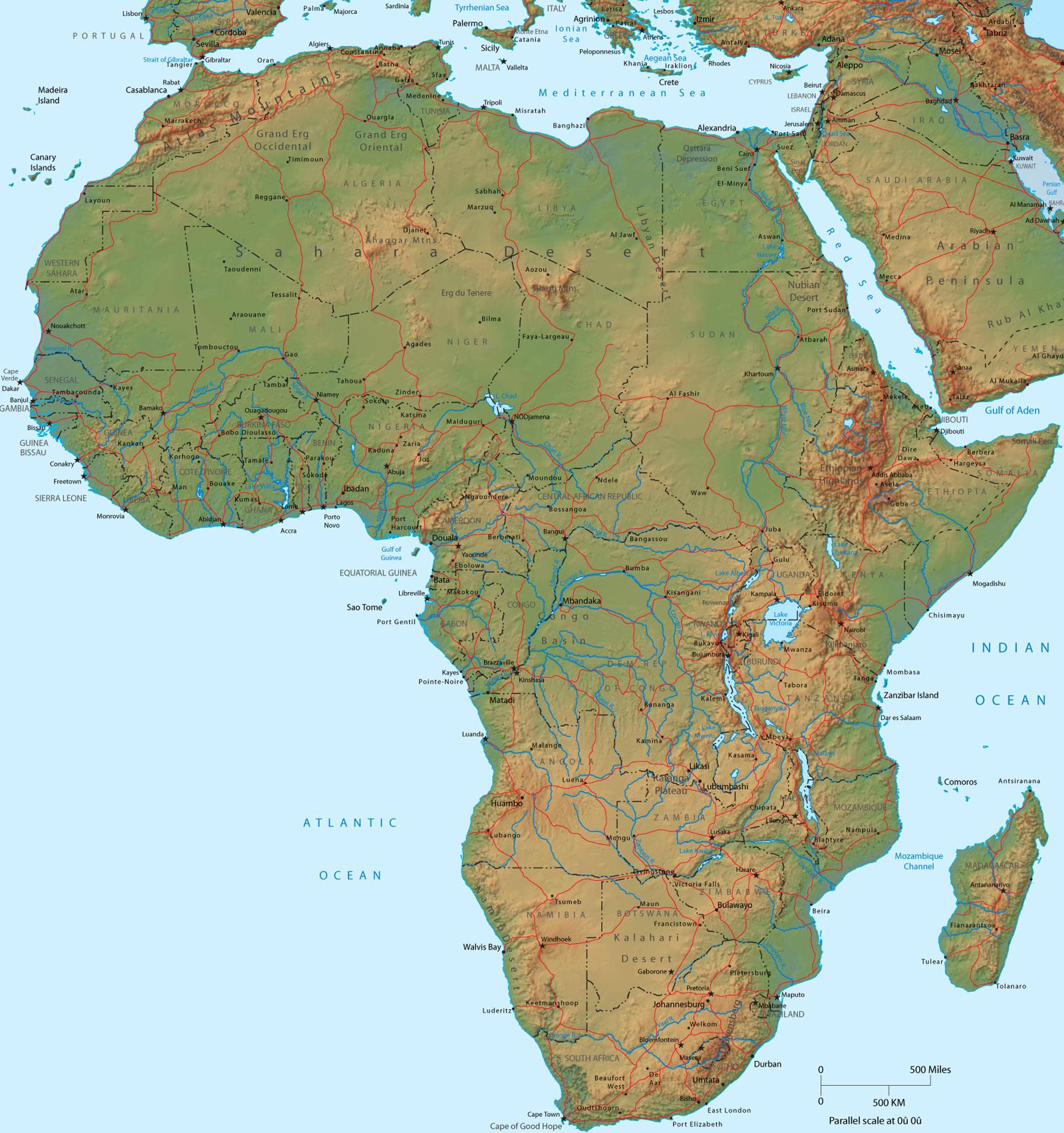 Cartina Fisica Dell Africa Settentrionale.Il Clima Dell Africa Centro Meteo Italiano