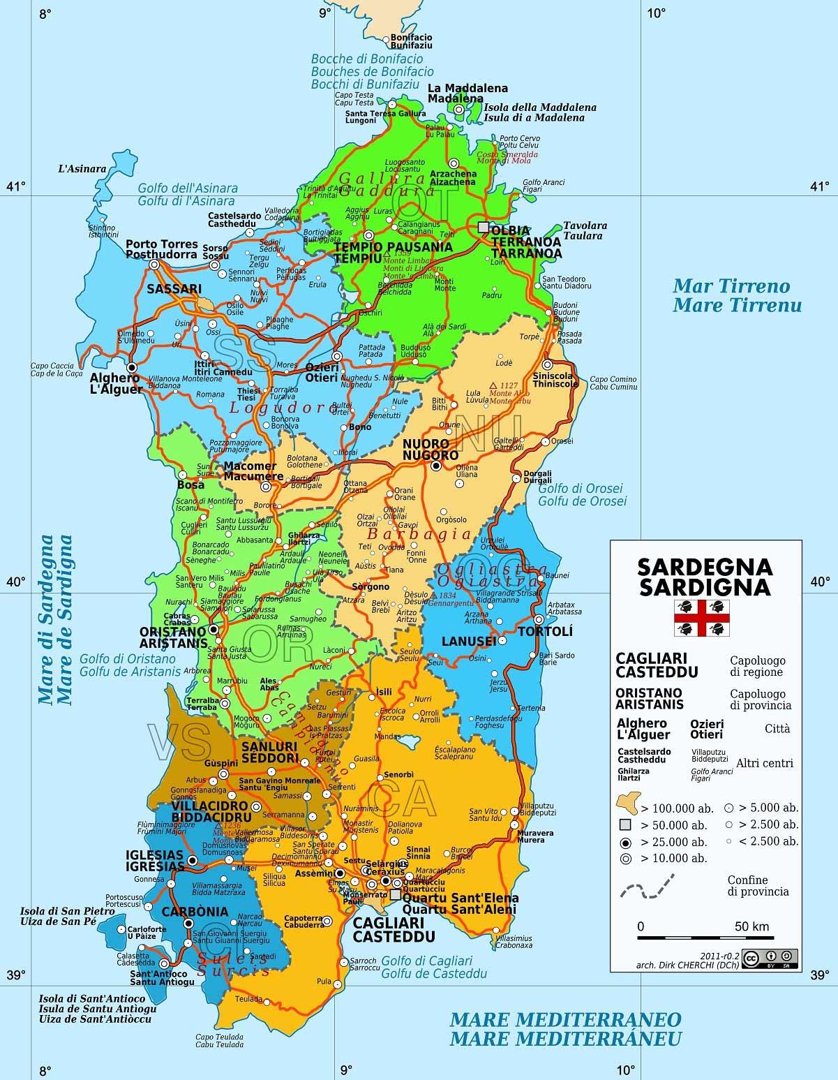 Sardegna Ovest Cartina.Il Clima Della Sardegna