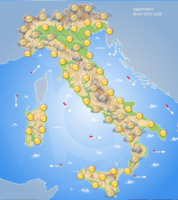Previsioni meteo oggi venerd 27 luglio 2012 centro meteo italiano - Meteo bagno di romagna 15 giorni ...