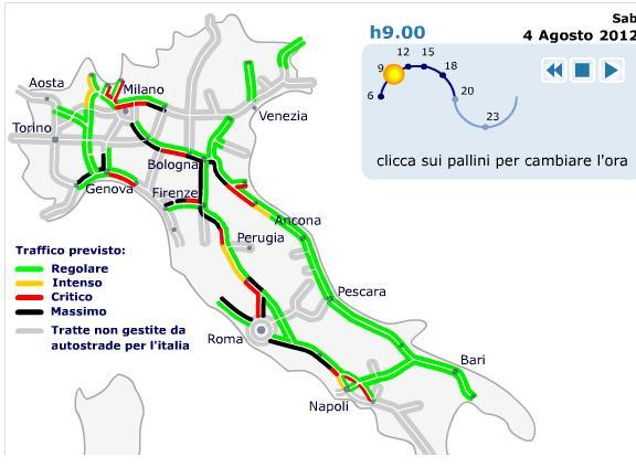 Calendario Traffico Autostrade.Previsioni Traffico Bollino Nero 4 Agosto 2012 E Partenze