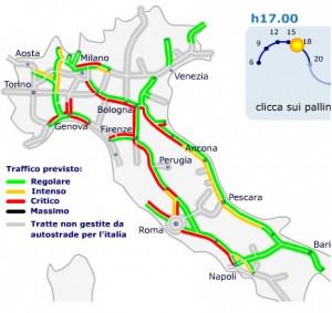 Previsioni traffico autostrade venerdi 3 agosto 2012