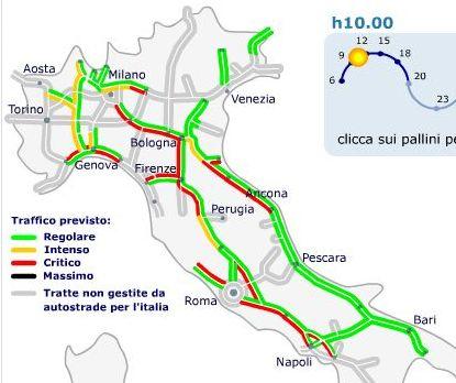 Calendario Traffico Autostrade.Previsioni Traffico Autostrade Esodo Da Bollino Nero Nel