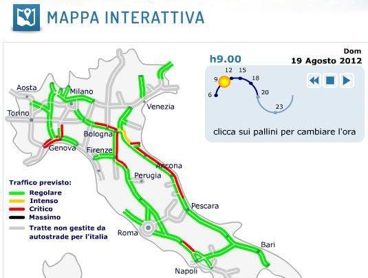 Calendario Traffico Autostrade.Traffico Autostrade Previsioni Bollino Rosso 18 19 Agosto