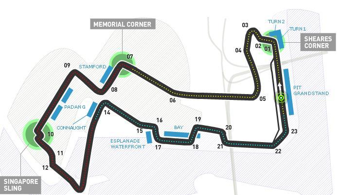 Circuito Gp Singapore 2012