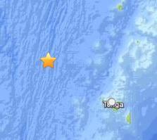 Terremoto Isole Fiji, Tonga