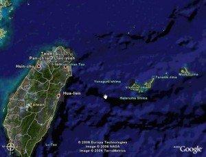 Isola di Yonaguni in Giappone