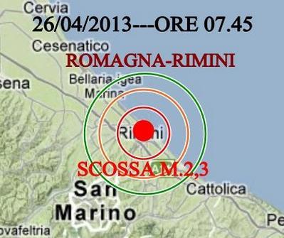 Terremoto emilia romagna oggi scossa vicino rimini for Oggi in romagna