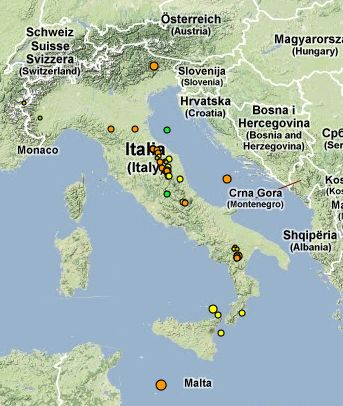 Lampedusa Cartina Italia Tomveelers