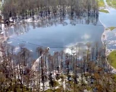 Sinkhole Louisiana, enorme voragine nel terreno