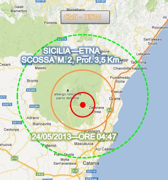 Terremoto Sicilia 24 Maggio 2013