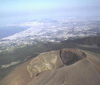 Vesuvio immagine sommita vulcano