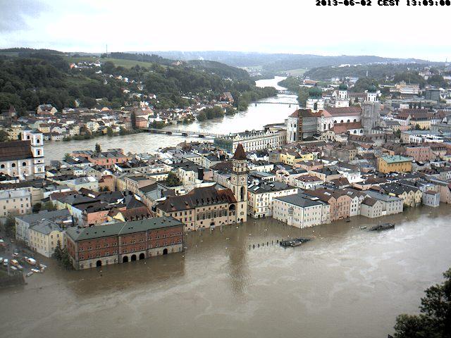 Webcam confluenza Inn e Danubio